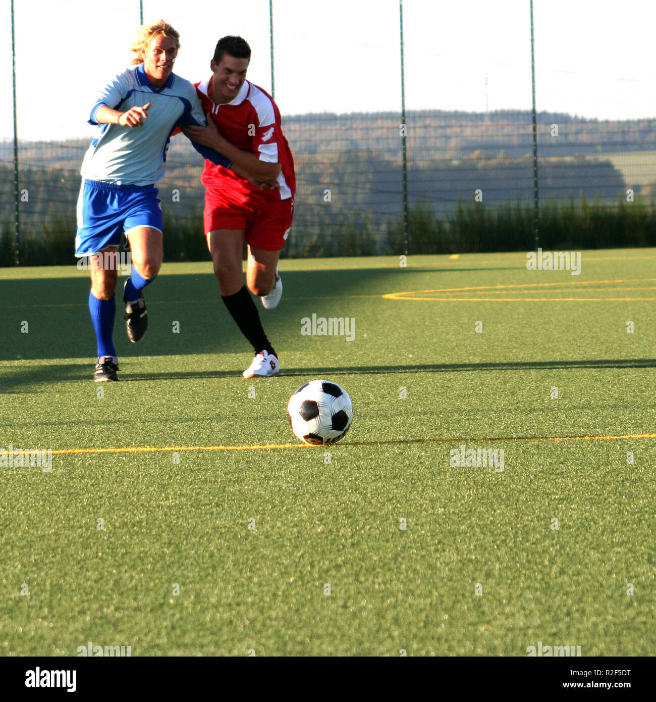in duel for the ball vi - Stock Image