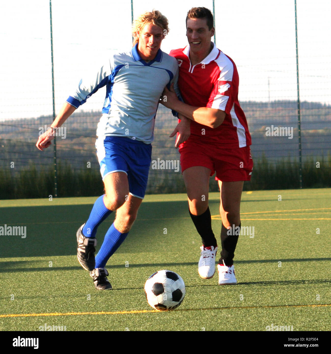 in the duel for the ball vii - Stock Image