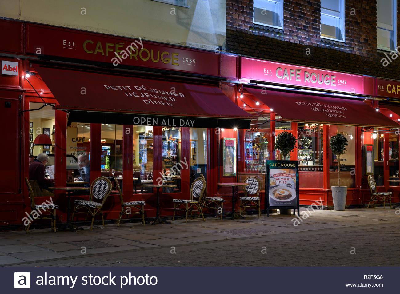 Cafe Rouge, High Street, Salisbury, Wiltshire, England, UK - Stock Image