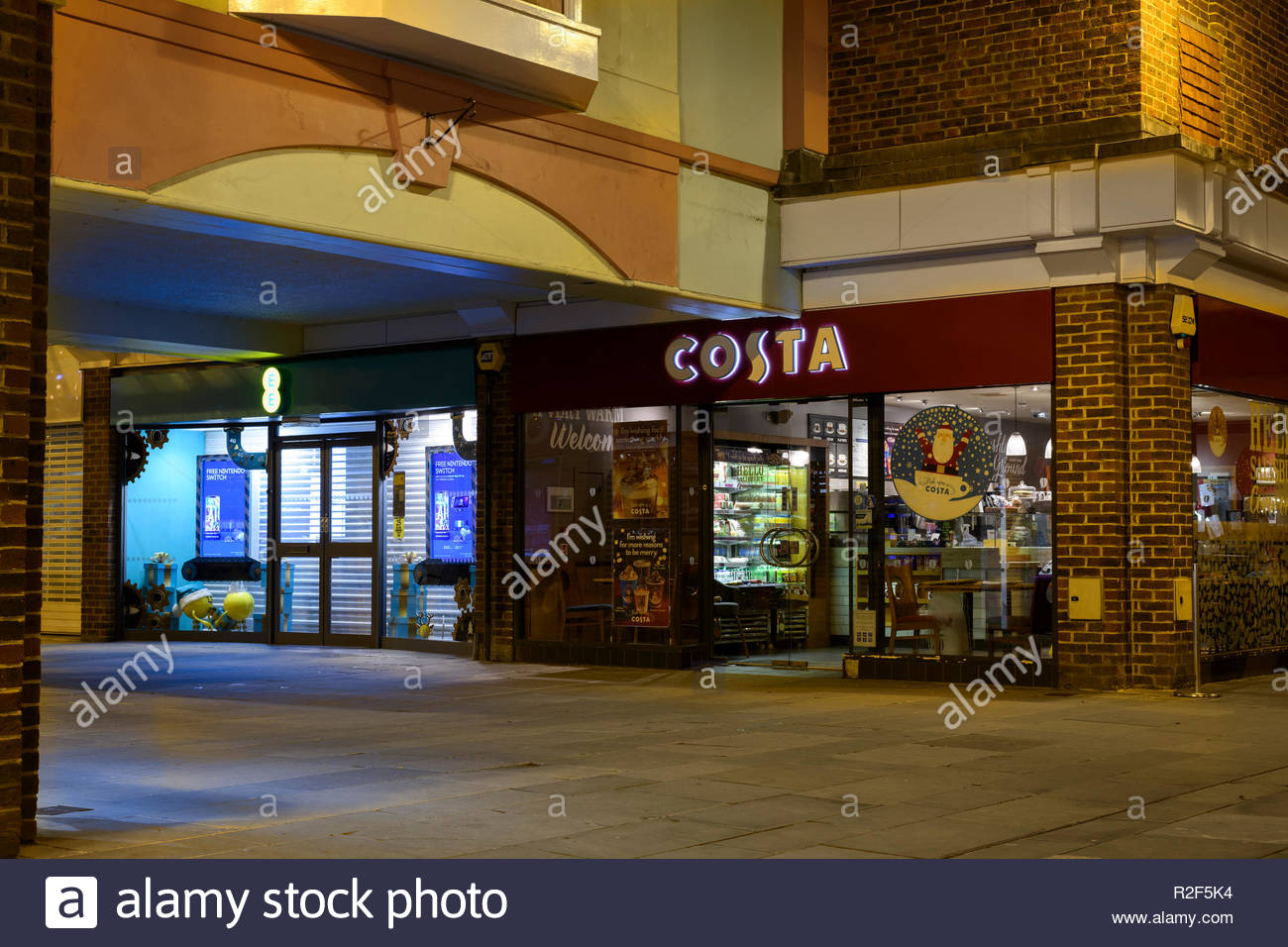 Costa Coffee cafe, Old George Mall, shopping centre, Salisbury, Wiltshire, England, UK - Stock Image