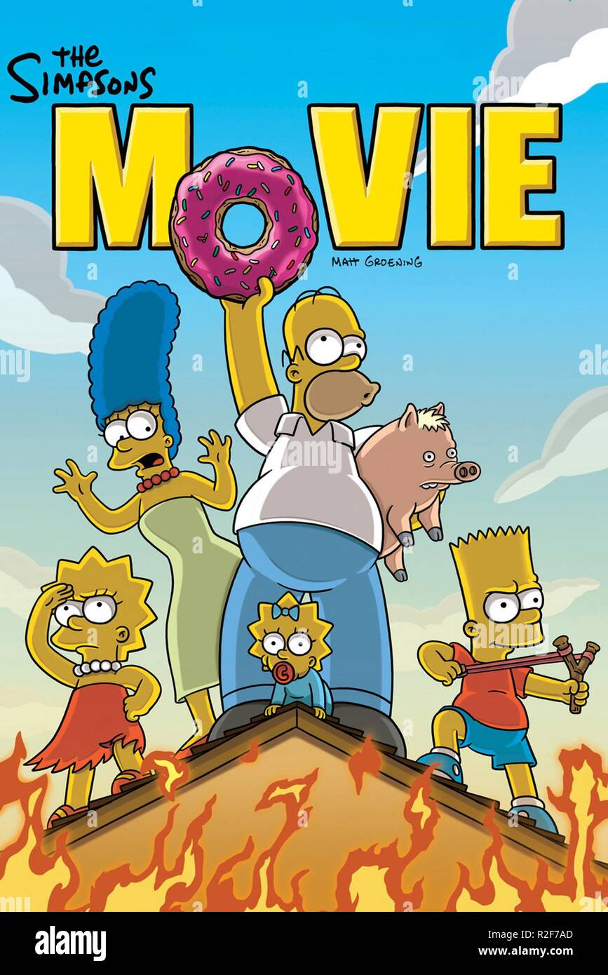 The Simpsons Movie Year 2007 Director David Silverman Animation Movie Poster Stock Photo Alamy