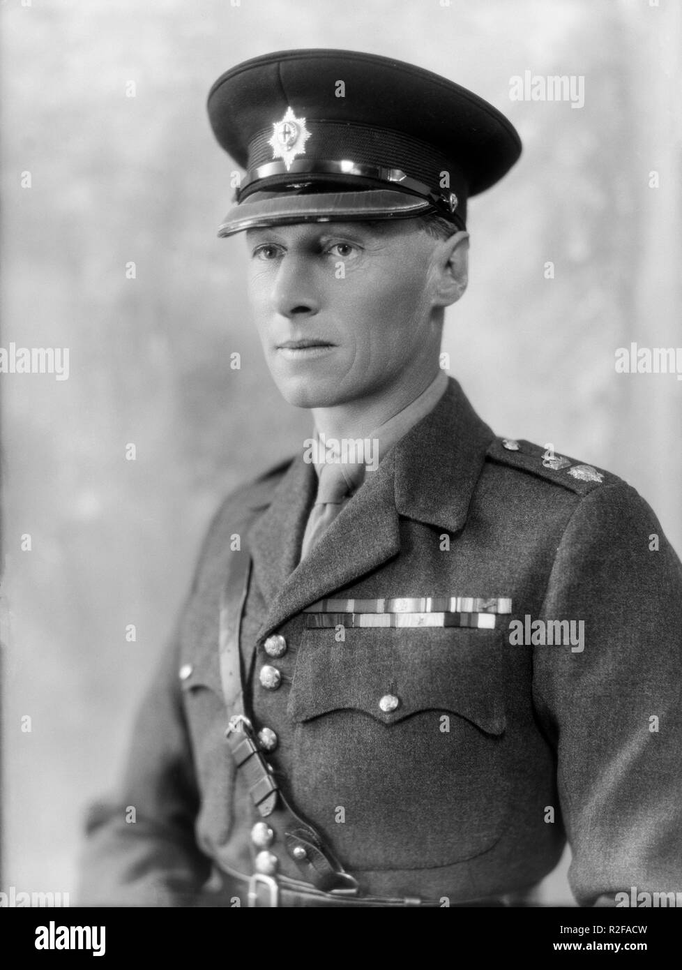 9th October 1928. Portrait photograph of Lieutenant Colonel A. G. C. Dawnay,  CBE, DSO, of the Coldstream Guards, a regiment in the British Army. Photo taken in the famous photographic studio of Bassano in London. He acted as Liaison Officer between General Allenby and Lawrence Of Arabia during the First World war. Born in 1888 and died in 1938. - Stock Image