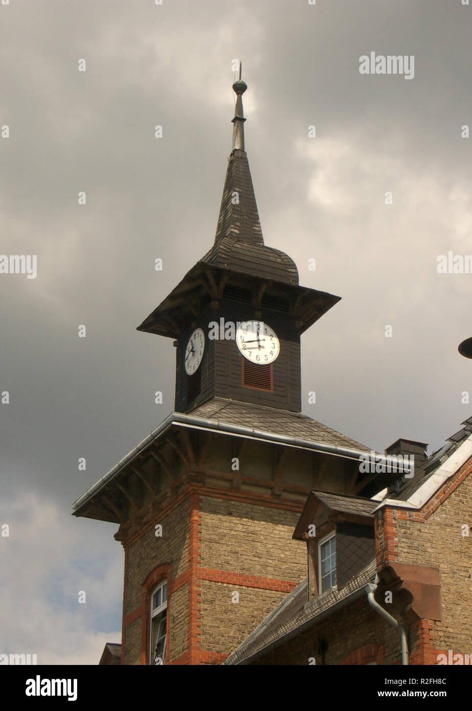 clock tower 81-56 - Stock Image