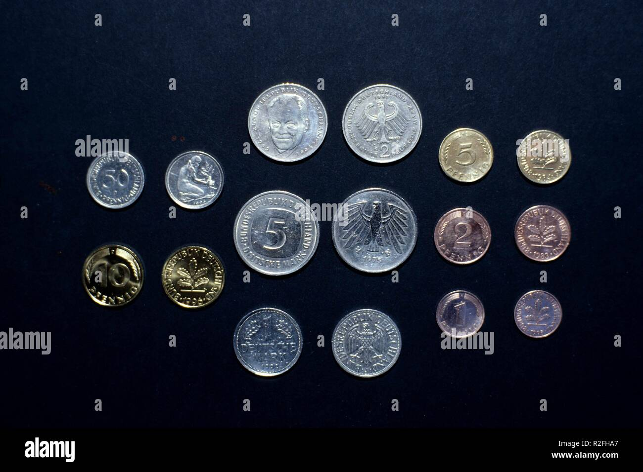 coins of the dm - Stock Image