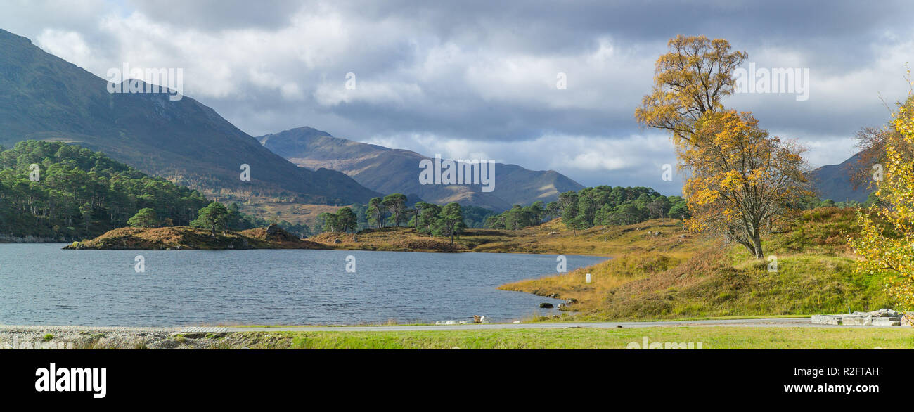 Loch Affric viewed from next to affric lodge, Glen Affric,Highlands, Scotland. - Stock Image