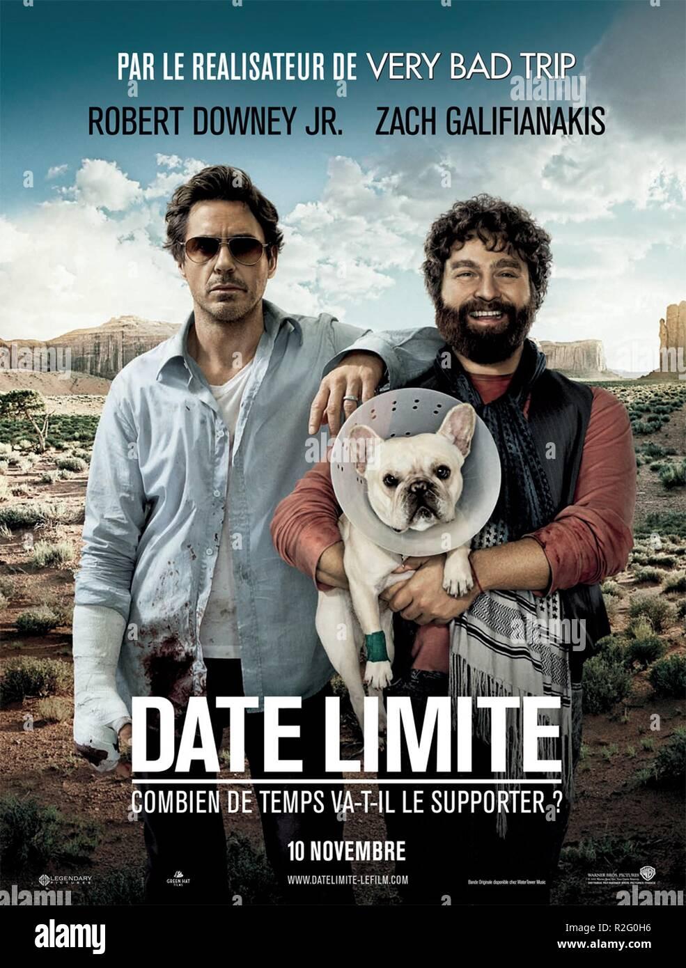 Due Date Year 2010 Usa Director Todd Phillips Robert Downey Jr Zach Galifianakis Movie Poster Fr Stock Photo Alamy