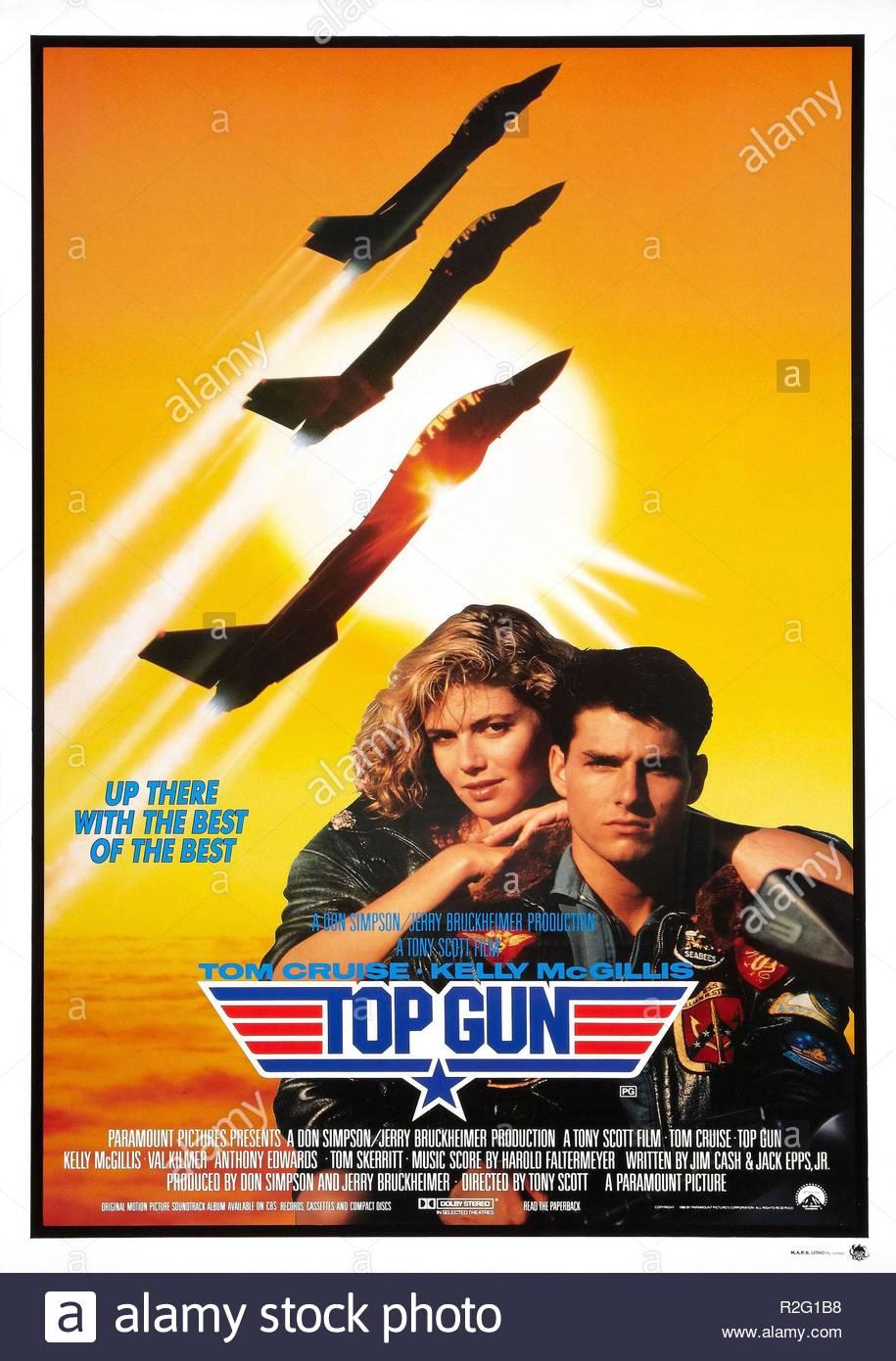 Top Gun  Year : 1986 USA Director : Tony Scott Kelly McGillis, Tom Cruise Movie poster (USA) - Stock Image