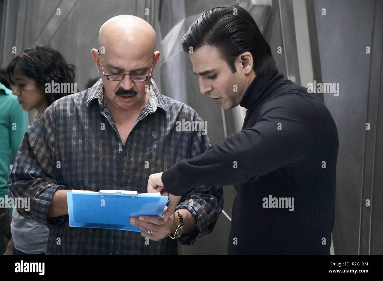 Krrish 3  Year : 2013 India Director : Rakesh Roshan Rakesh Roshan, Vivek Oberoi Shooting picture - Stock Image