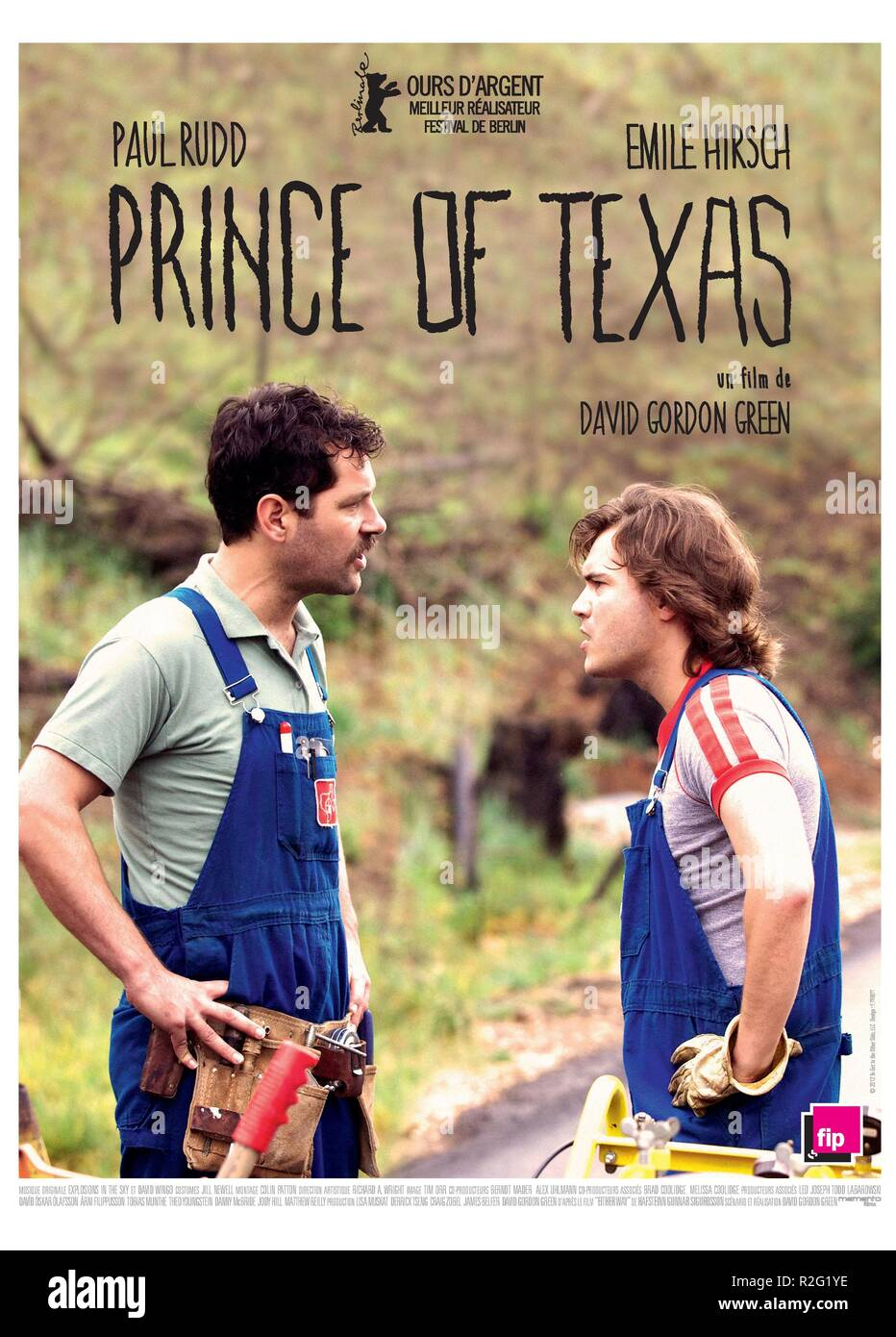 Prince Avalanche Year : 2013 USA Director : David Gordon Green Emile Hirsch, Paul Rudd Movie poster (Fr) - Stock Image