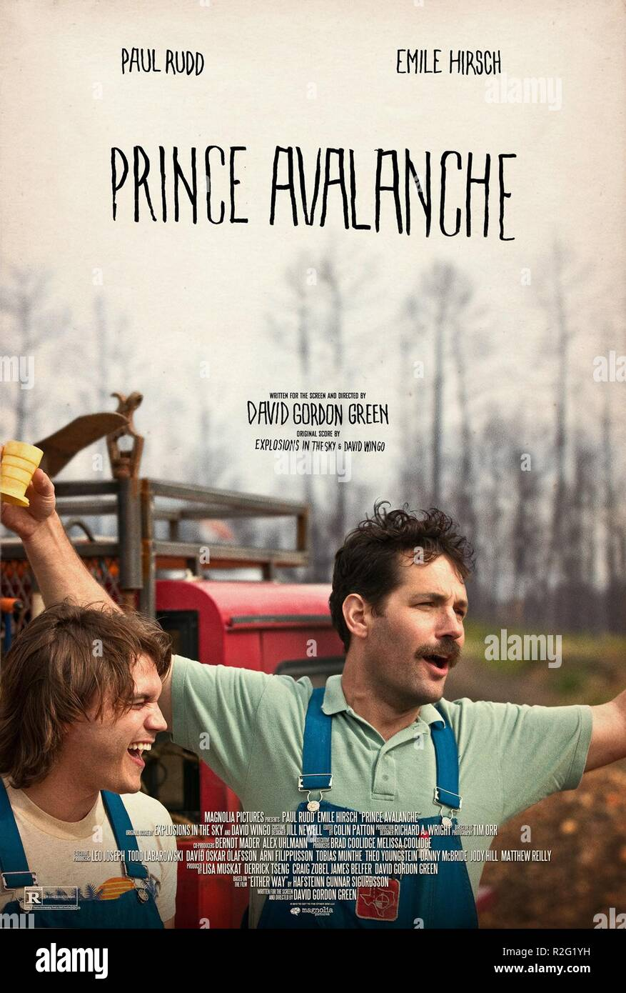 Prince Avalanche Year : 2013 USA Director : David Gordon Green Emile Hirsch, Paul Rudd Movie poster (USA) - Stock Image