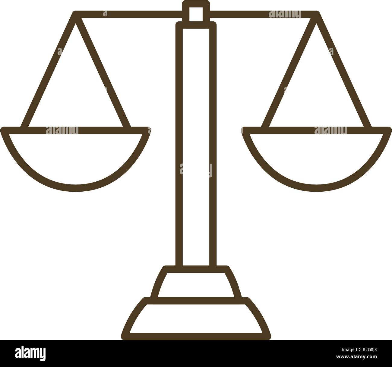 balance of justice isolated icon - Stock Vector