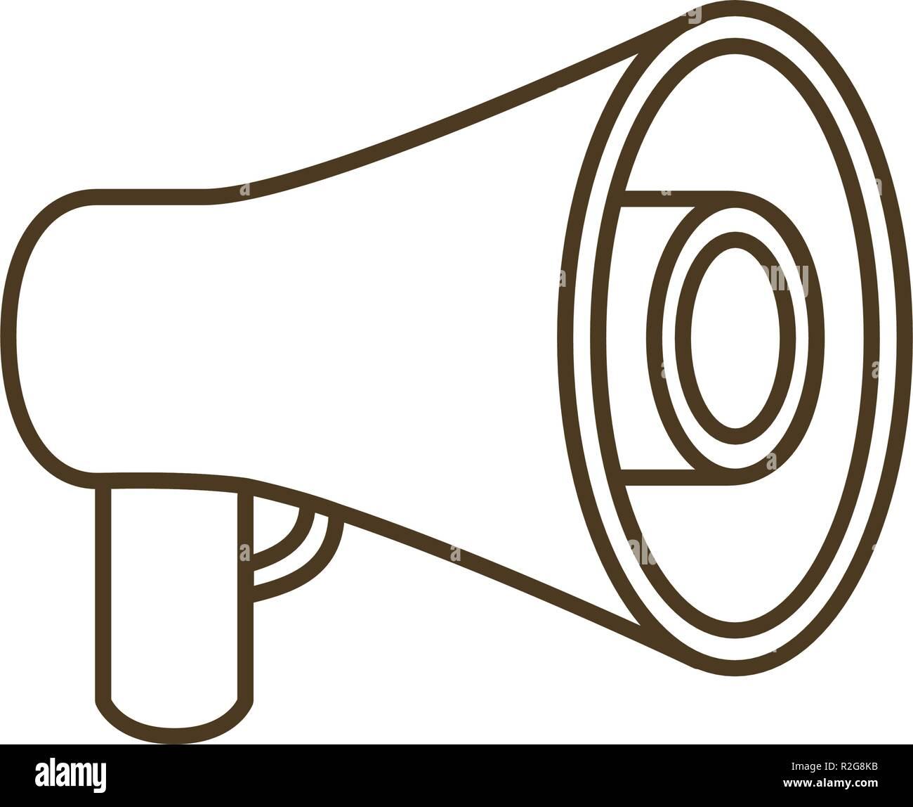 megaphone silhouette isoalted icon - Stock Vector
