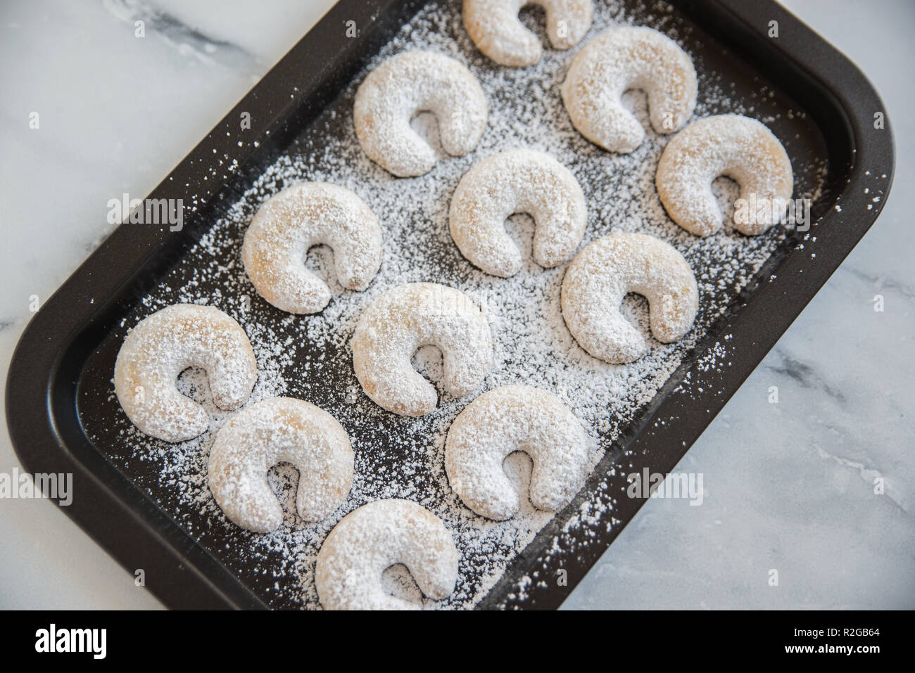 Christmas Vanilla Nut Crescent Cookies Stock Photo 225324124 Alamy
