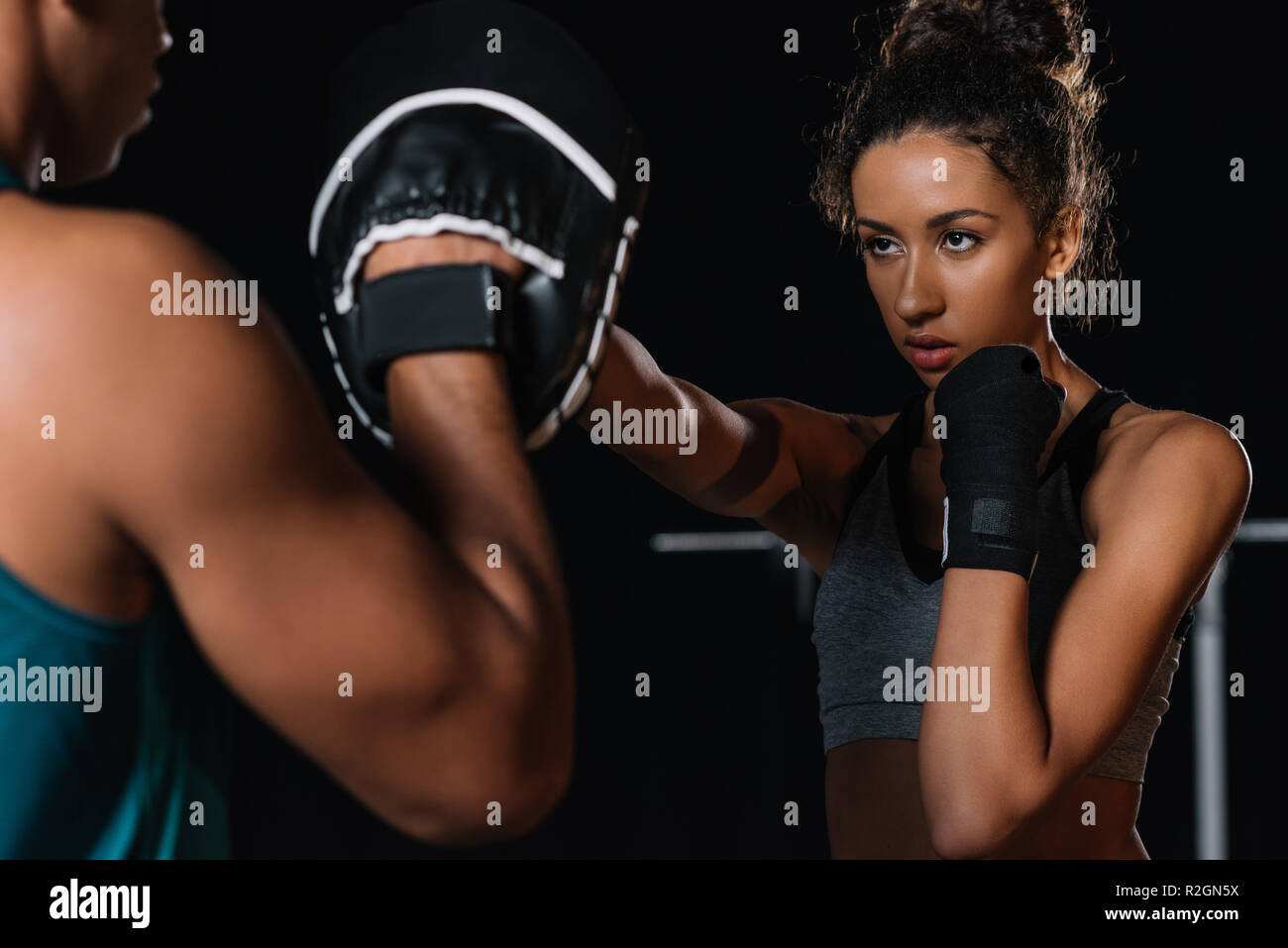 Personal Trainer African American Stock Photos  Personal -1079
