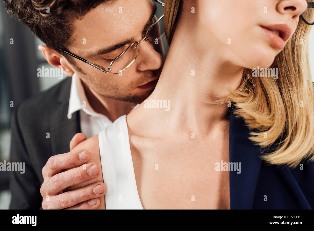 kissing neck stock photos amp kissing neck stock images alamy