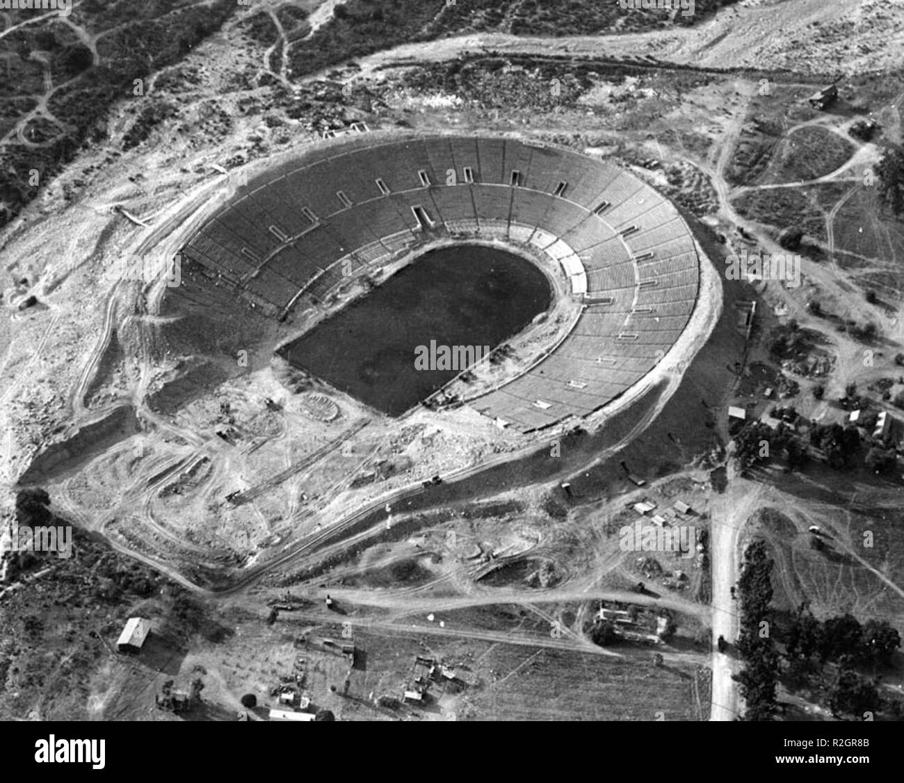 RoseBowl-construction1921 - Stock Image