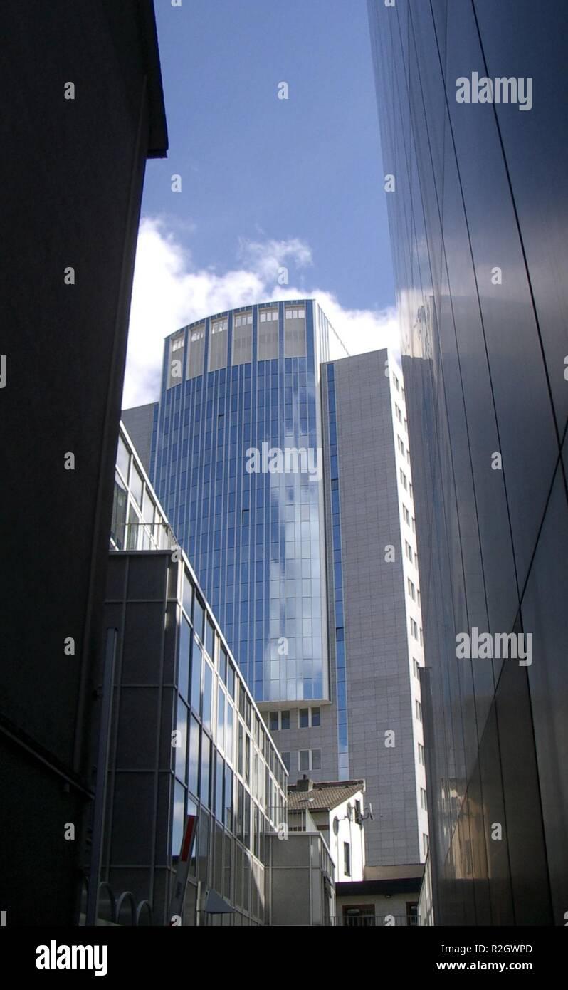 of-häuserschlucht view v. kaiserstraße Stock Photo