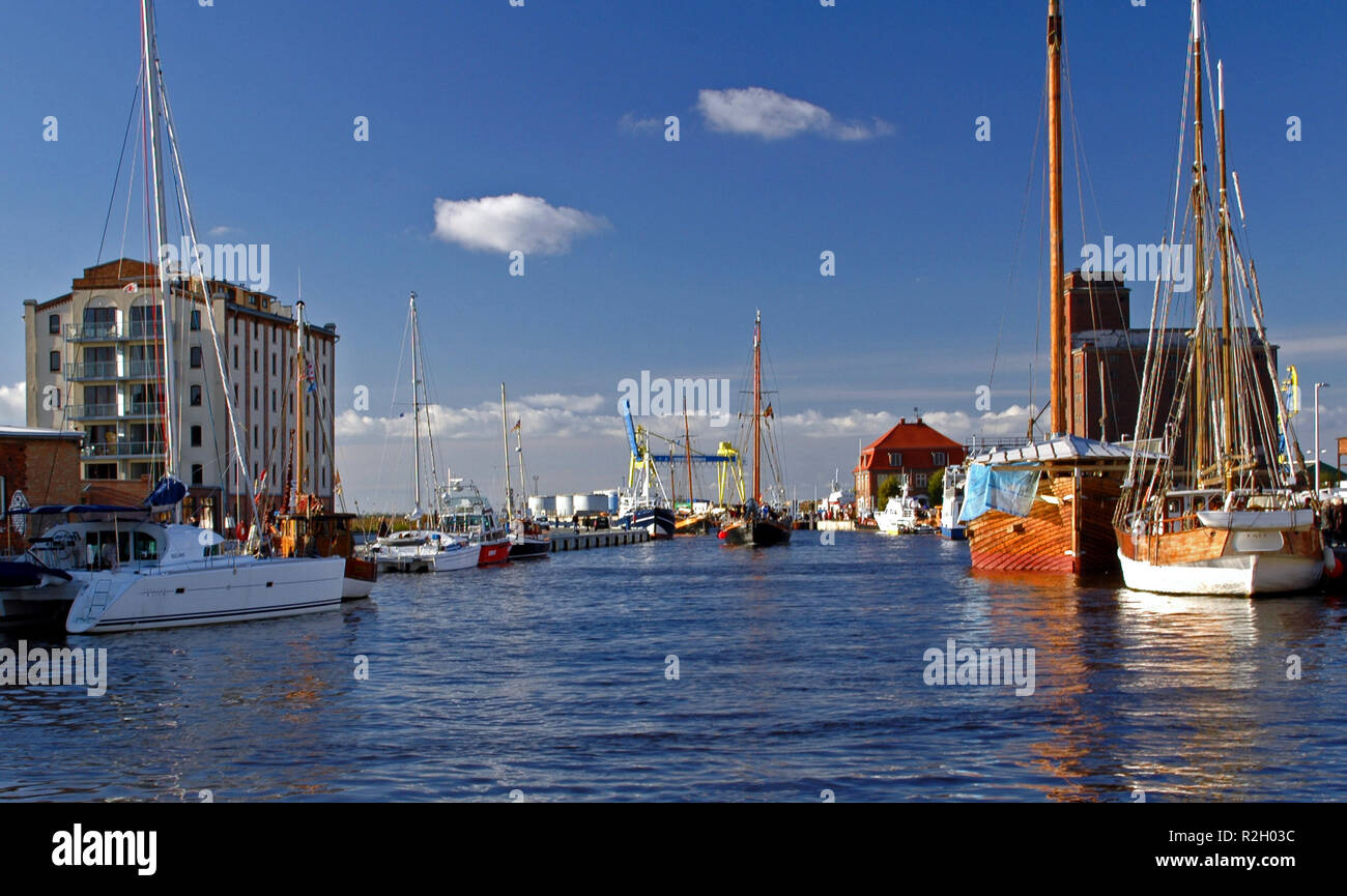 wismar harbour - Stock Image