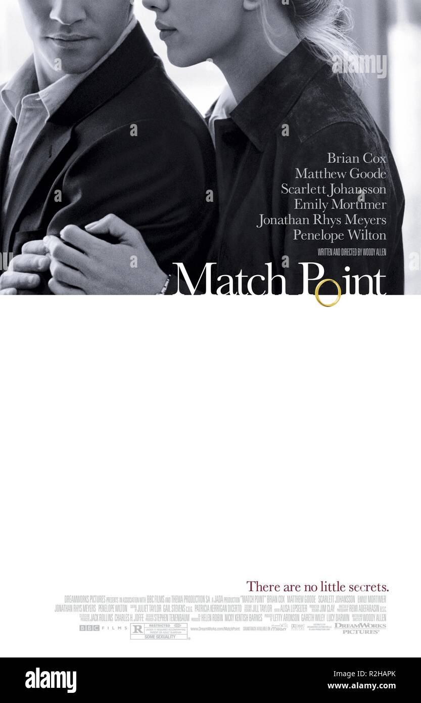Match point  Year : 2004 USA Director : Woody Allen Movie poster (USA) - Stock Image