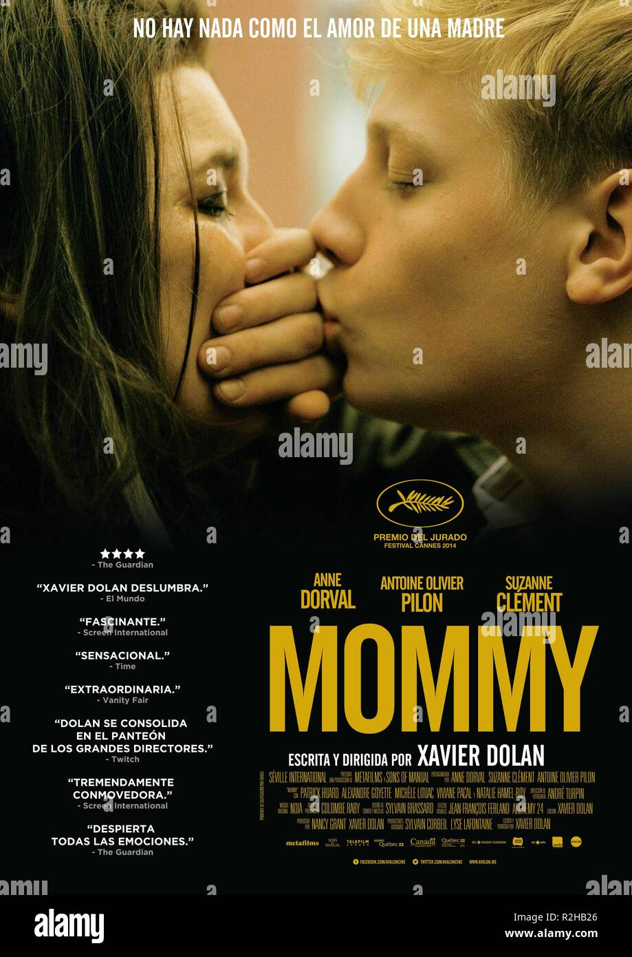 Mommy Year : 2014 Canada Director : Xavier Dolan Anne Dorval, Antoine-Olivier Pilon Movie poster (Sp) - Stock Image