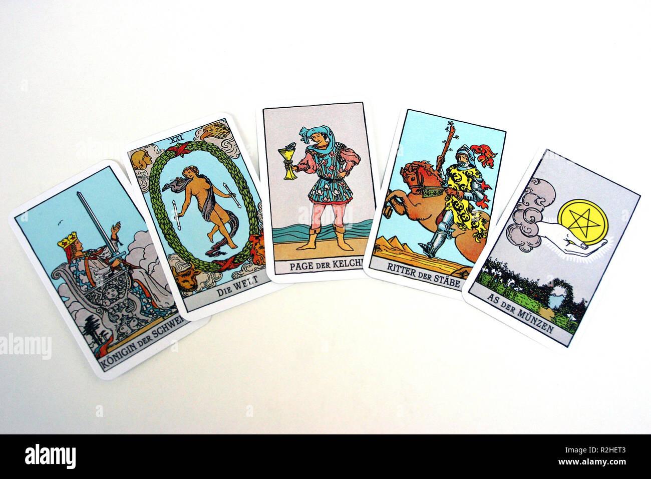 Tarot Cards 3 Stock Photo 225348931 Alamy