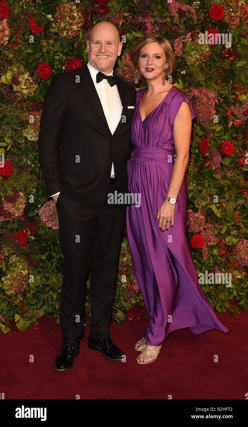 Photo Must Be Credited ©Alpha Press 079965 18/11/2018 Christopher Harper and Marianne Elliott The 64th Evening Standard ES Theatre Awards 2018 Theatre Royal London - Stock Image