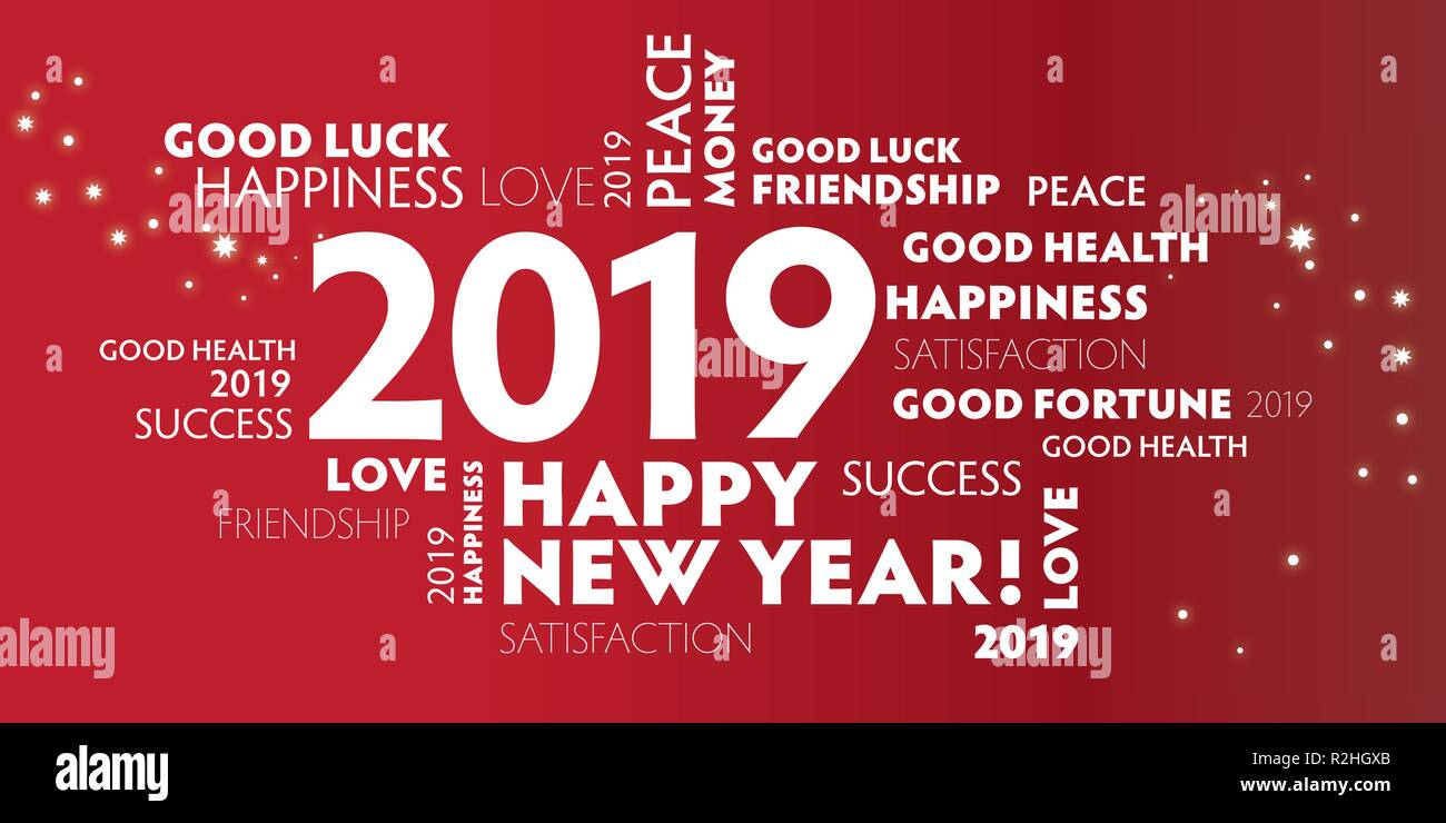Happy New Year Word Cloud Stock Photos & Happy New Year ...