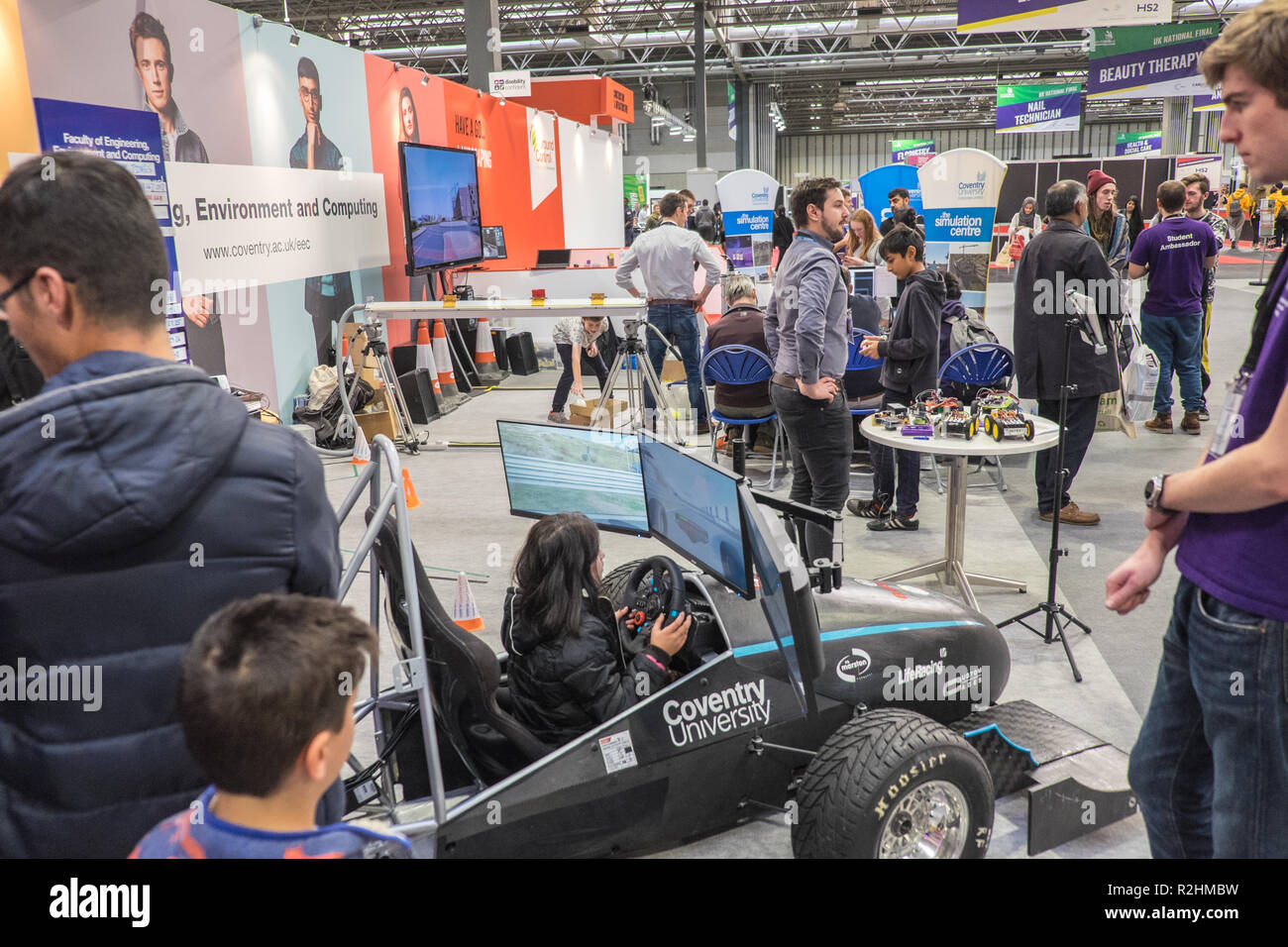 WorldSkills, UK Live 2018,formerly,Skills Show,is,the UK's largest skills, apprenticeships, and, careers, event, held at NEC, Birmingham,England,UK. - Stock Image