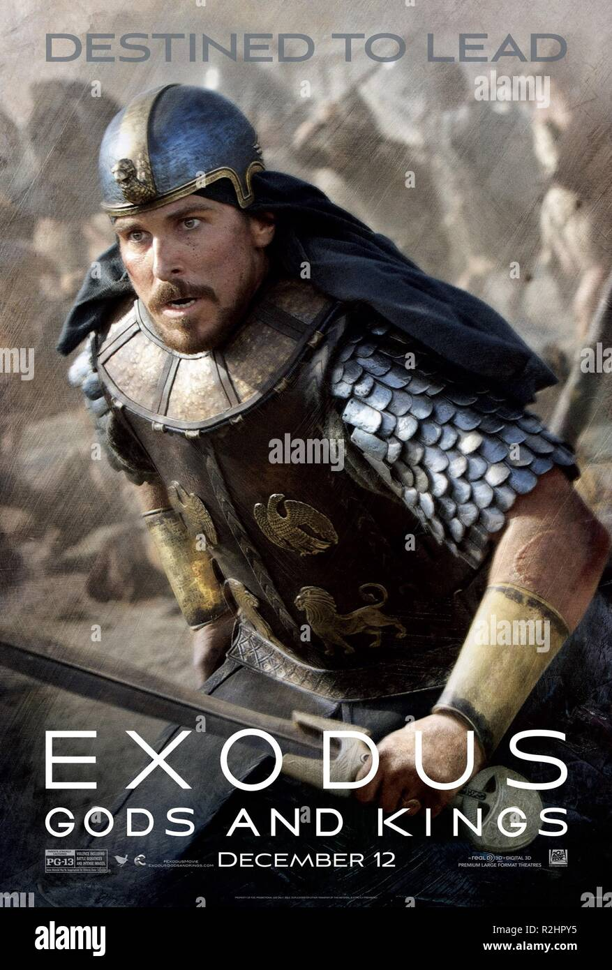 Exodus: Gods and Kings Year: 2014 USA / UK Director : Ridley Scott Christian Bale Movie poster (USA) - Stock Image