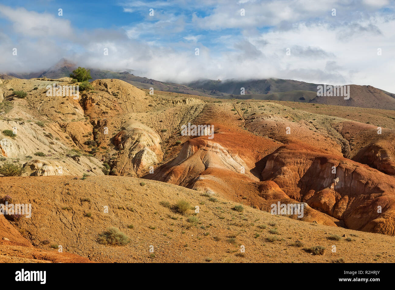 Terrain with the name 'Mars', Republic of Altai, Russia - Stock Image