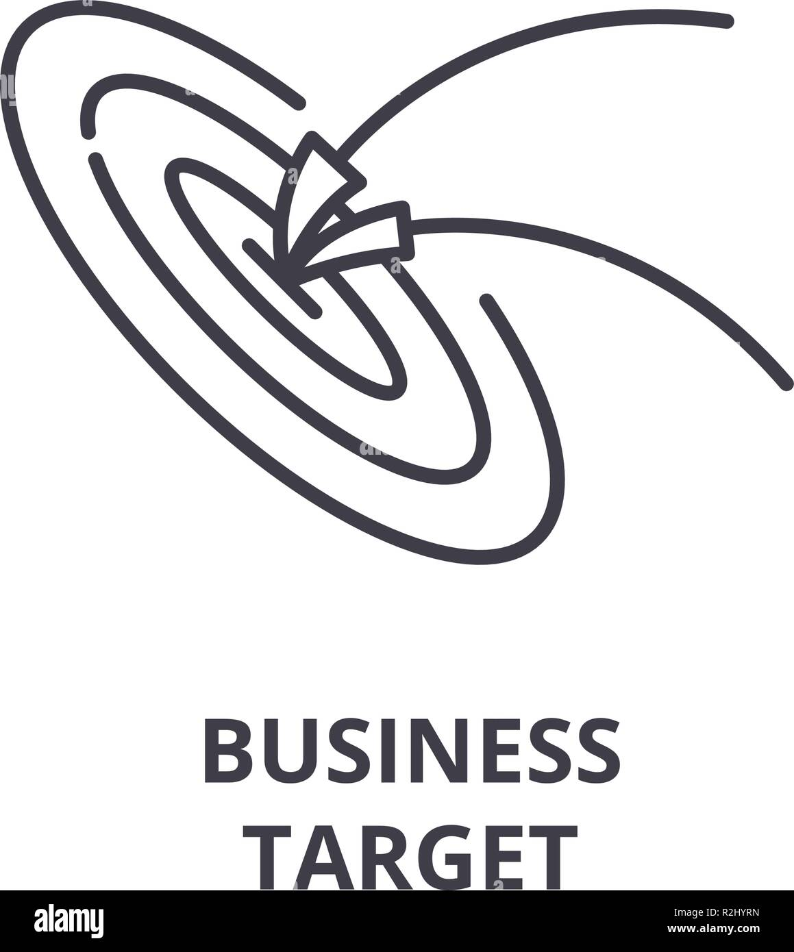 Business target line icon concept. Business target vector linear illustration, symbol, sign Stock Vector