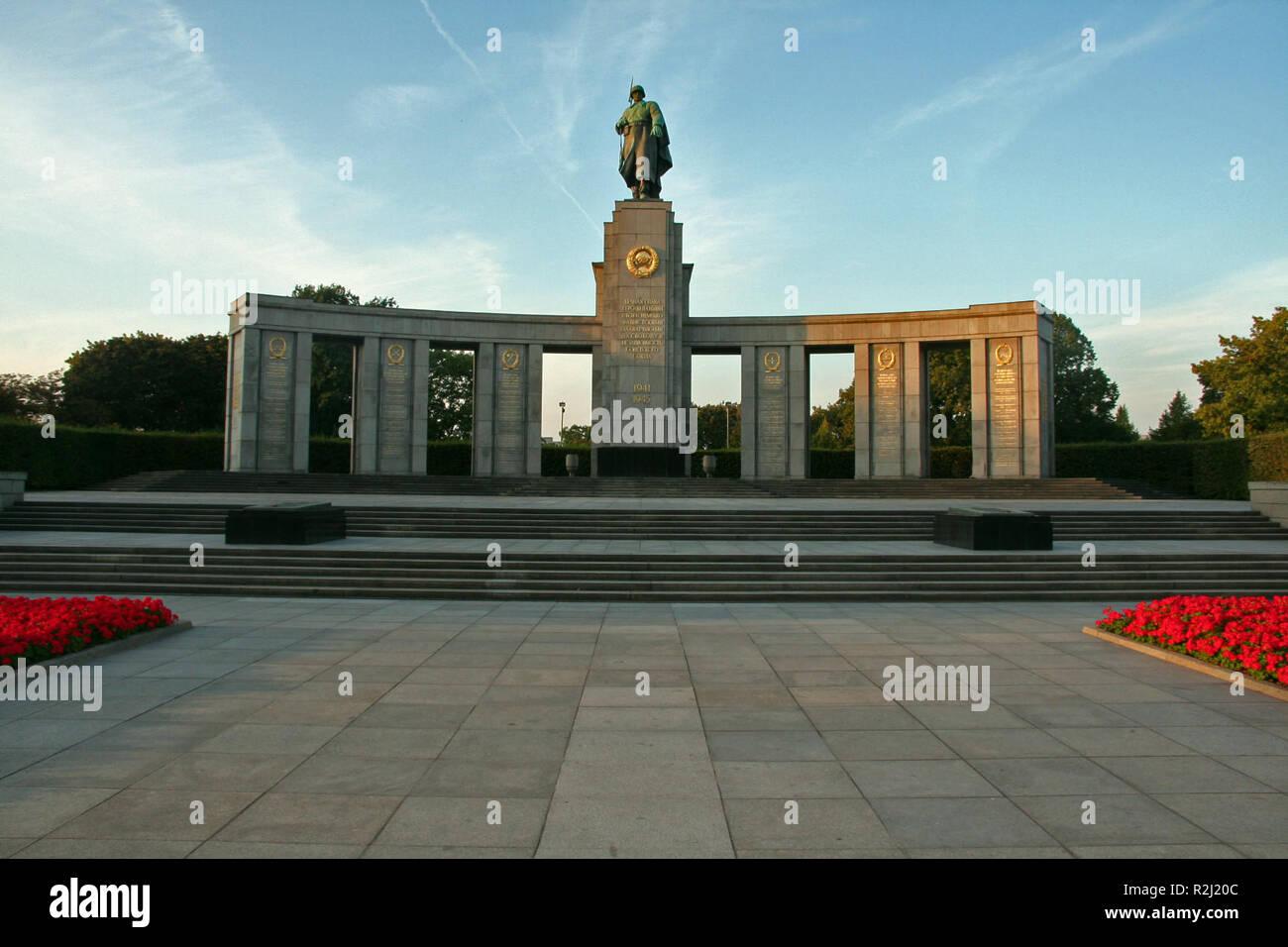 soviet honor memorial - Stock Image