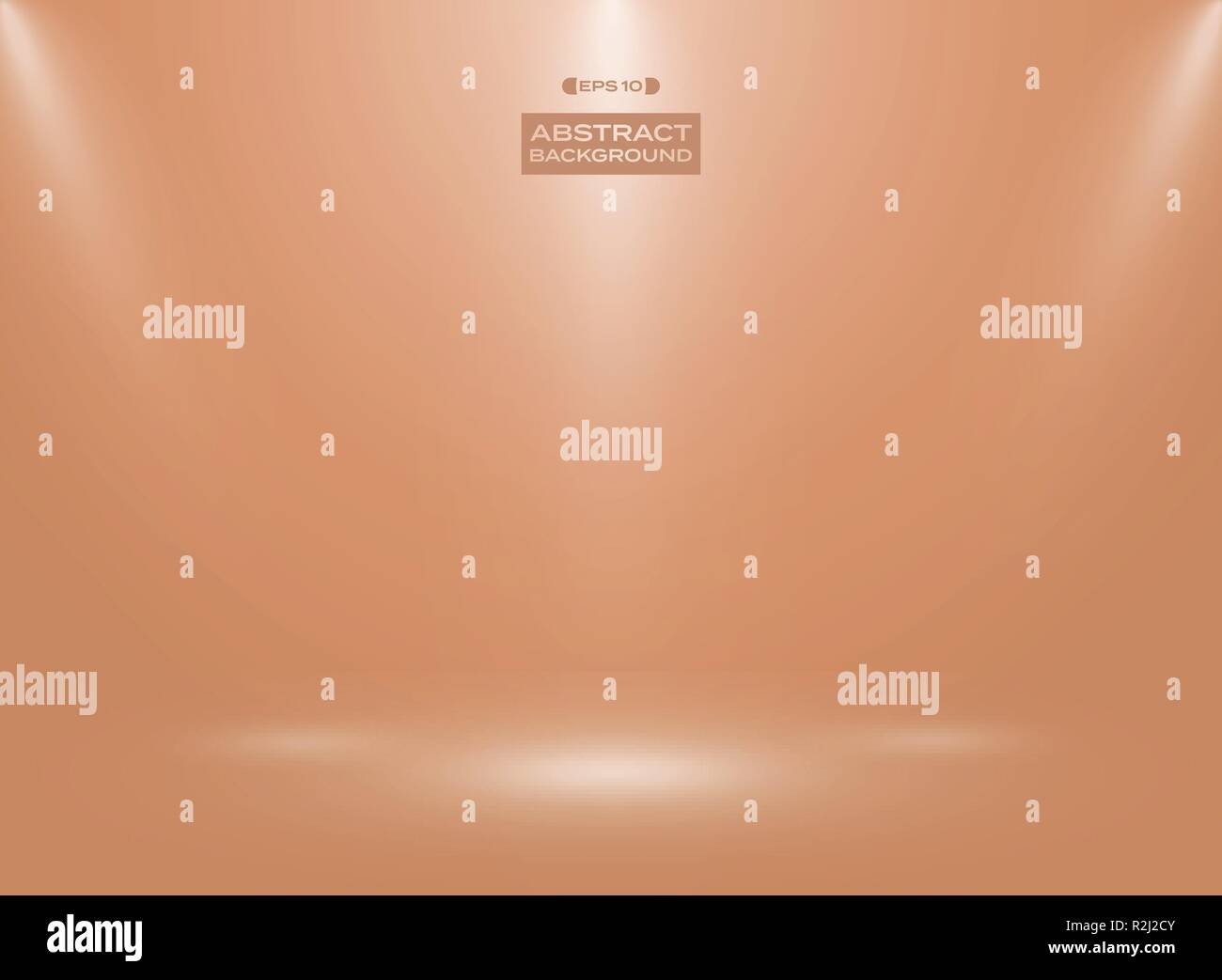 Abstract of orange shell egg color in studio room background. Vector eps10 - Stock Vector