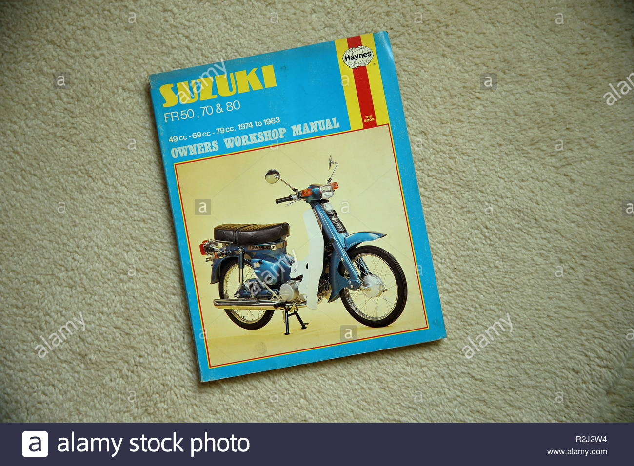 Haynes Owners Workshop Manual for Suzuki FR 50, 70 and 80 Motorcycle, Manual no 801, ISBN 0856968013 - Stock Image