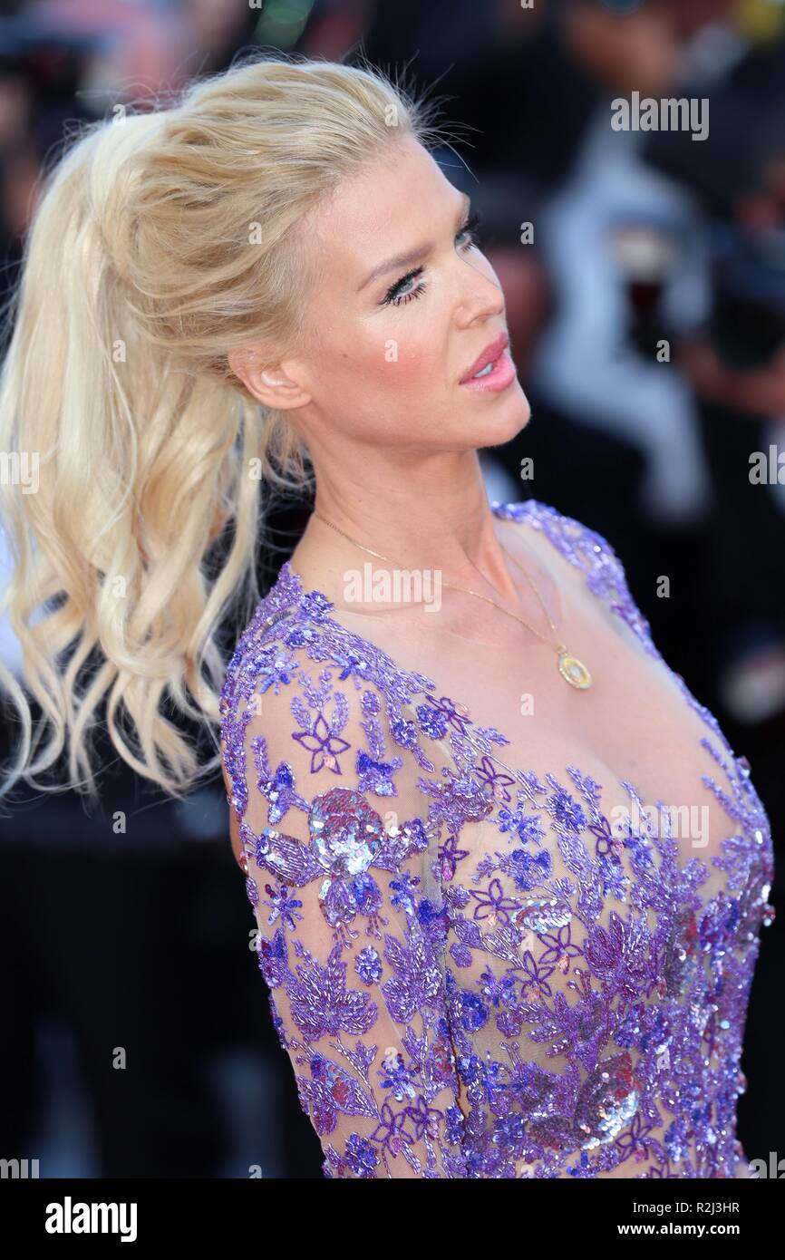 Cannes France May 11 2018 Victoria Silvstedt Attends The Screening Of