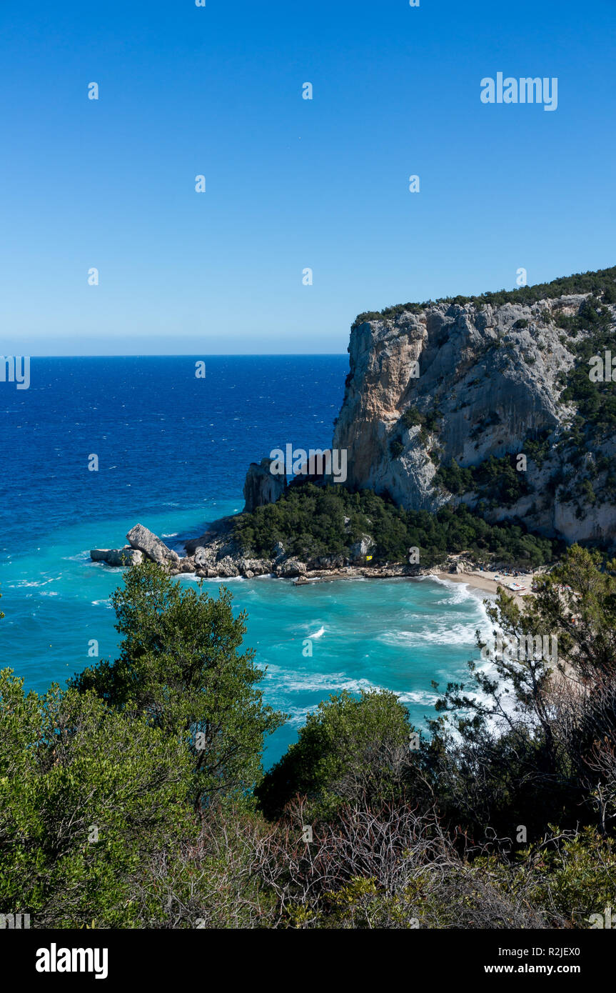 Cala Luna - most beautiful beach on the East of Sardinia Island, Italy - Stock Image