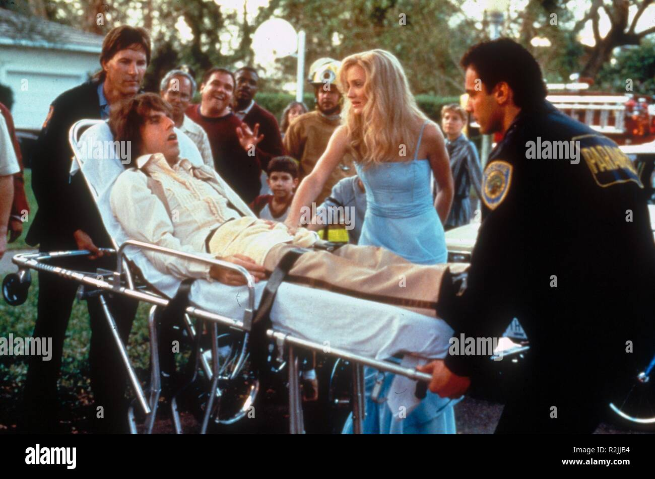 There's Something About Mary  Year : 1998  USA Director : Bobby Farrelly, Peter Farrelly Ben Stiller, Cameron Diaz - Stock Image
