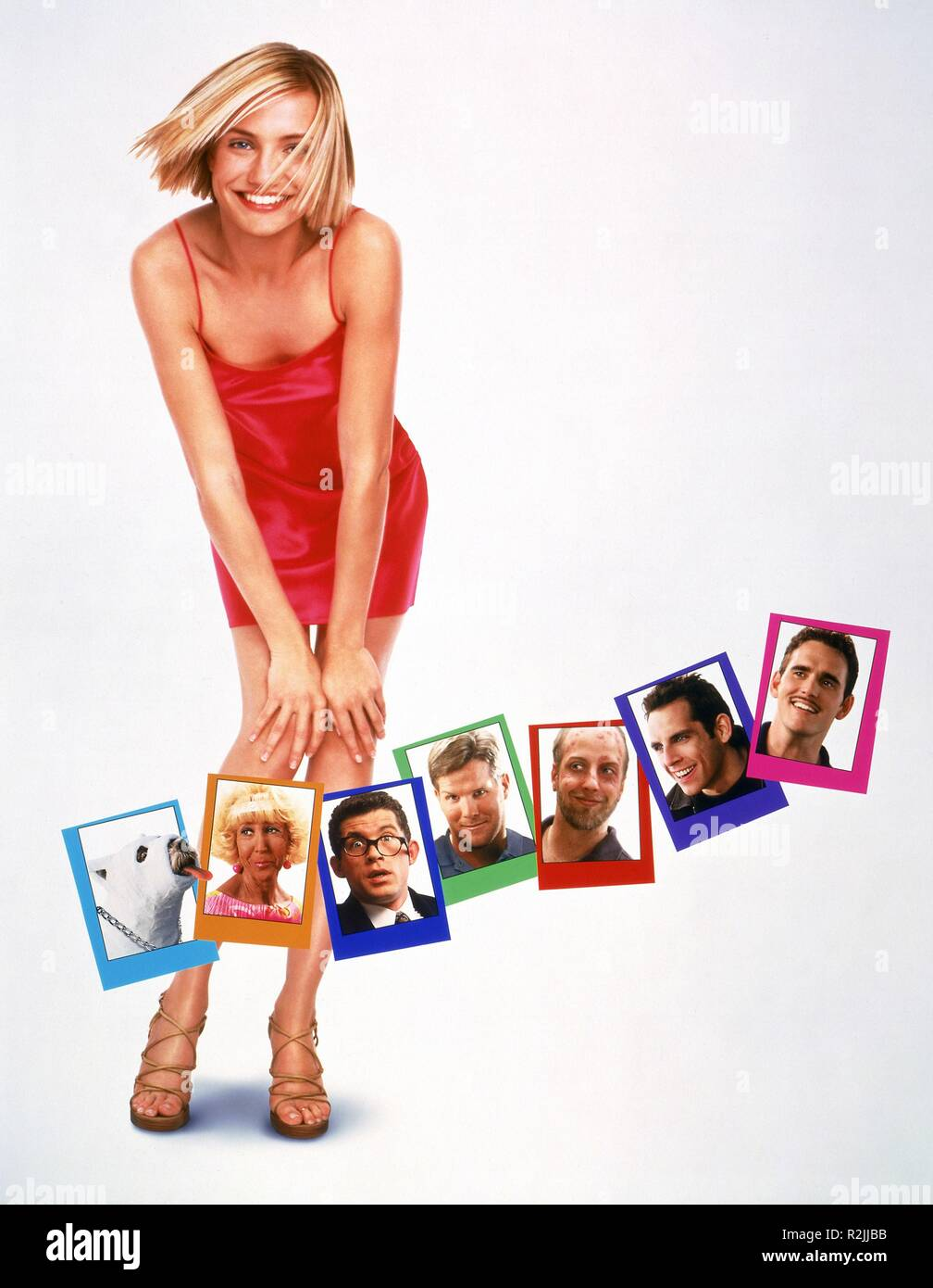 There's Something About Mary  Year : 1998  USA Director : Bobby Farrelly, Peter Farrelly Cameron Diaz Movie poster (creditless) - Stock Image