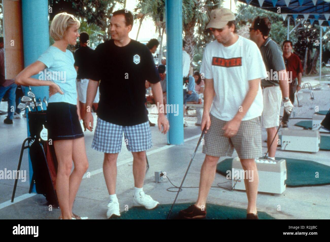 There's Something About Mary  Year : 1998  USA Director : Bobby Farrelly, Peter Farrelly Cameron Diaz, Bobby Farrelly and Peter Farrelly Shooting picture - Stock Image