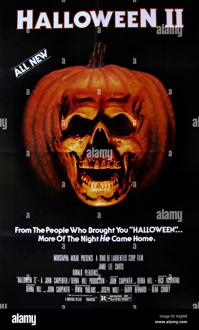 Halloween 2 Year : 1981 USA Director : : Rick Rosenthal Poster (USA) - Stock Image