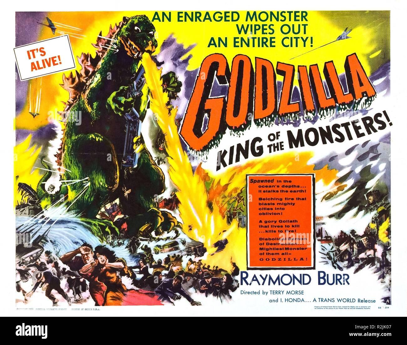 Godzilla, King of the Monsters! Year : 1956 USA / Japan Director : Inoshiro Honda, Terry Morse Poster (USA) - Stock Image