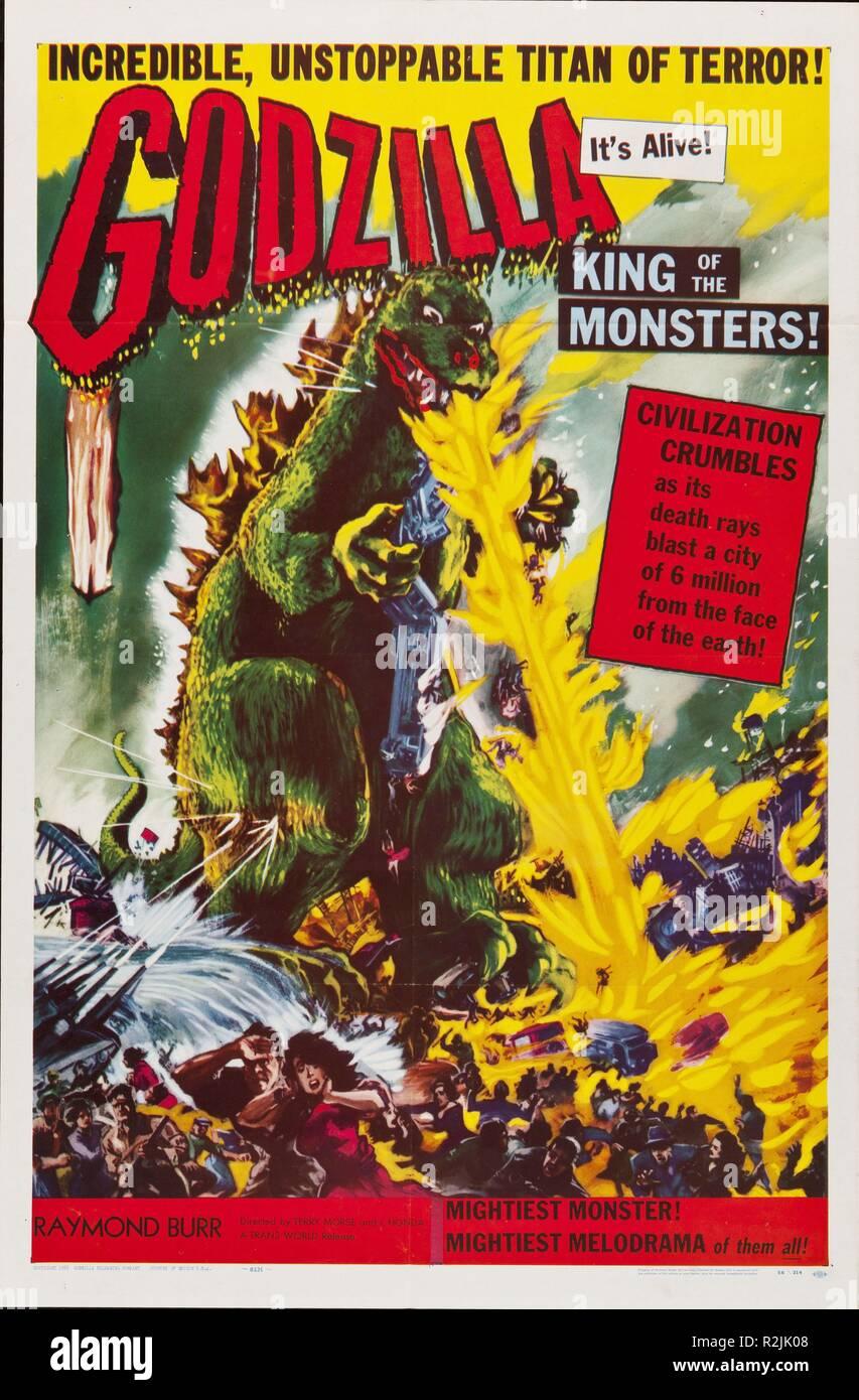 Godzilla, King of the Monsters! Year : 1956 USA / Japon Director : Inoshiro Honda, Terry Morse Poster (USA) - Stock Image