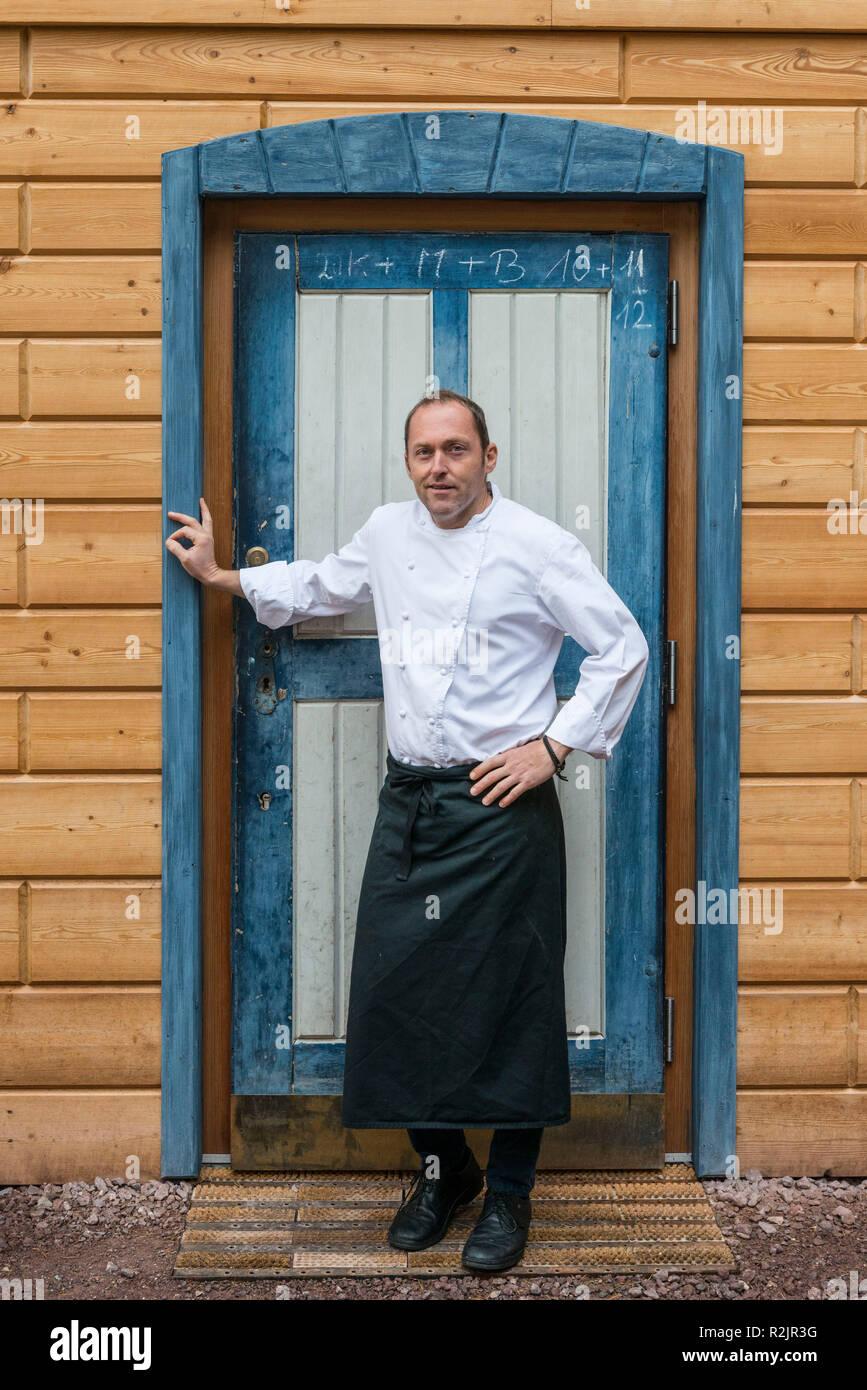 Italy, South Tyrol, Alto Adige, Sarntal, Sarnthein, Bad Schörgau, gourmet restaurant ALPES, starred restaurant, Egon Heiss Stock Photo
