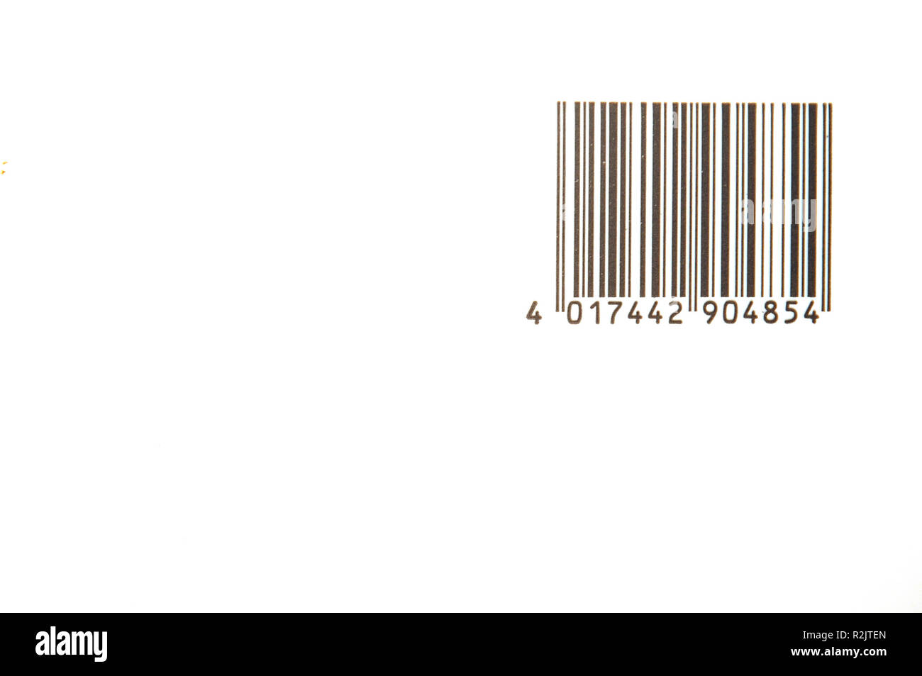 barcode on white background - Stock Image