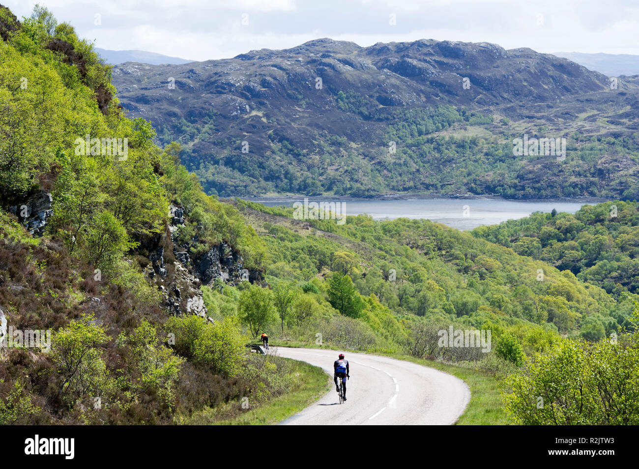 IR20150603. 03/06/15. Visit Scotland, Brilliant Moments. Niall Breslin, known as Bressie and Eoghan McDermot embark on a cycle trip around Scotland. O - Stock Image