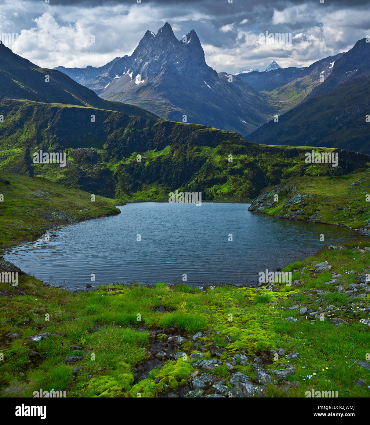 Fantasy Landscape, Mountainous Landscape with Lake (M) - Stock Image