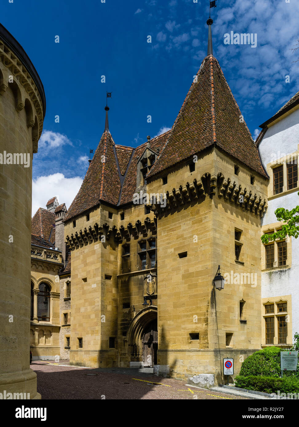 Neuchâtel Castle in the canton of the same name - Stock Image