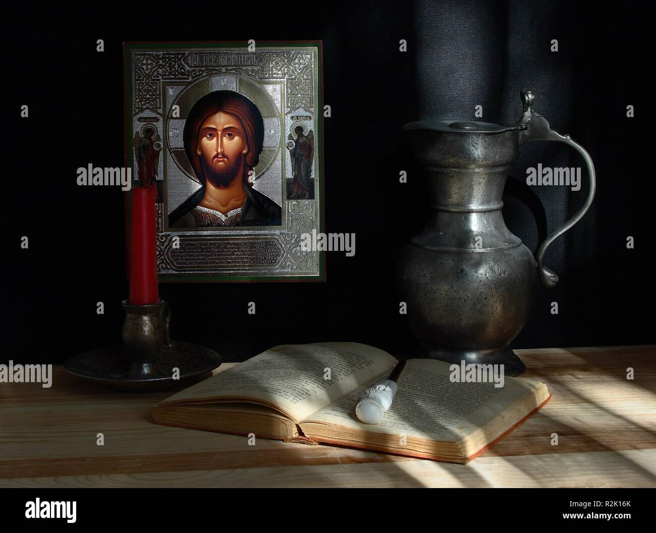 still life with icon. image 1 - Stock Image