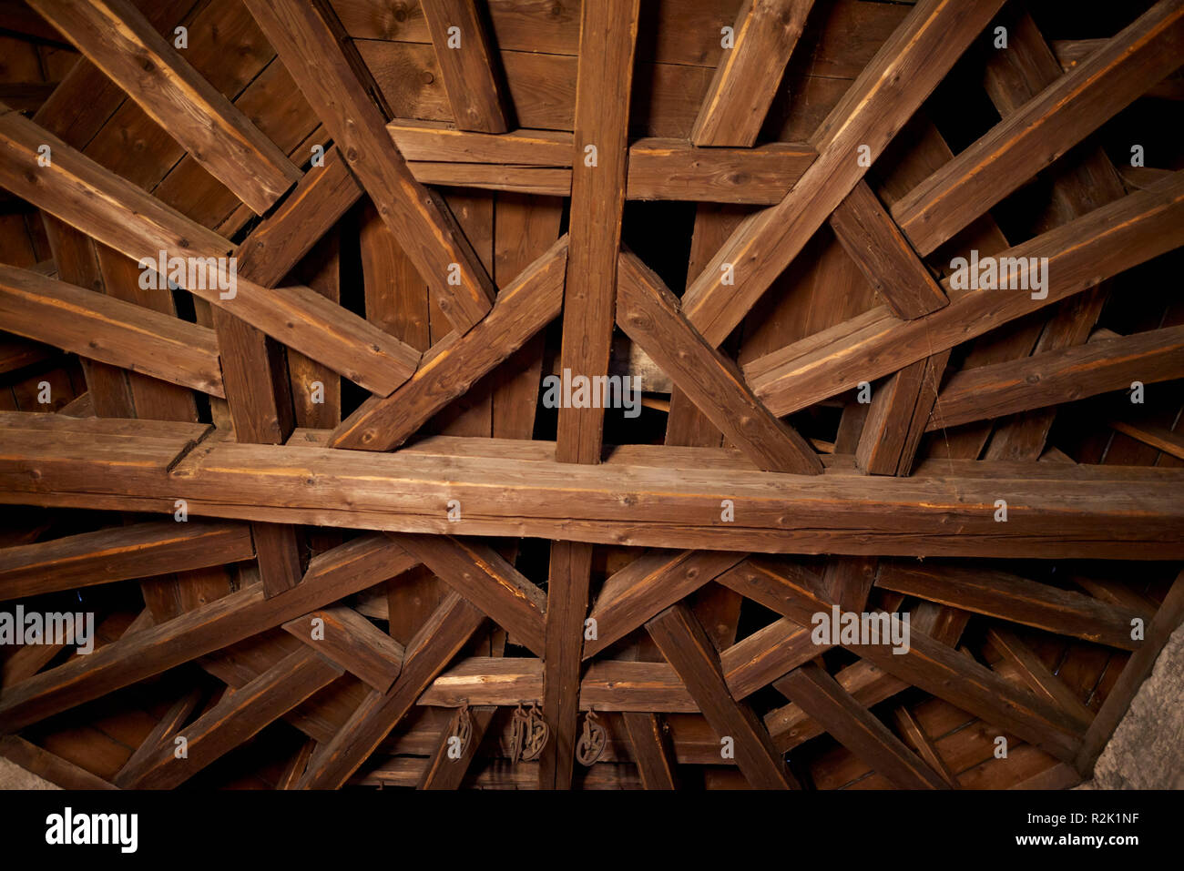 Entablature in the bell tower - Stock Image