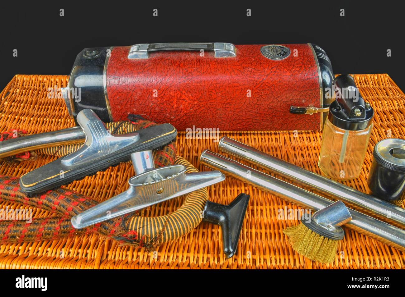 HUSTOPECE, THE CZECH REPUBLIC - NOVEMBER 12, 2018: Vintage vacuum cleaner Electrolux. Electrolux is famous brand from Sweden.Very popular all over the - Stock Image